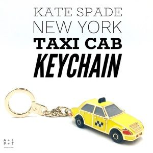 Kate Spade New York Taxi Cab Keychain Bag Charm